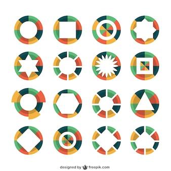 Logotipos redondo colorido