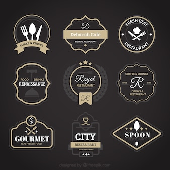 Logotipos restaurante do vintage