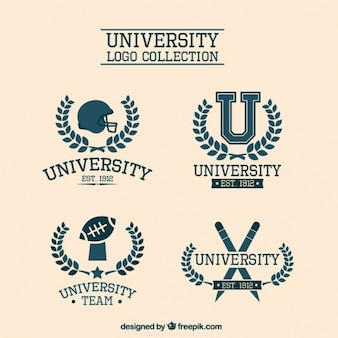 Logotipos universitários elegantes