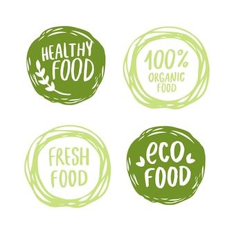 Logotipos verdes desenhados à mão