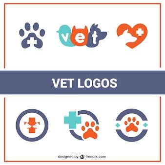 Logotipos veterinário planas