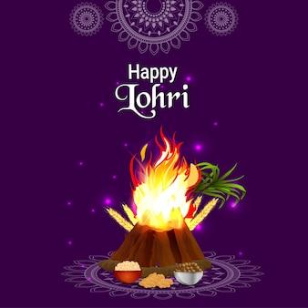 Lohri feliz, fundo de celebração do festival sikh