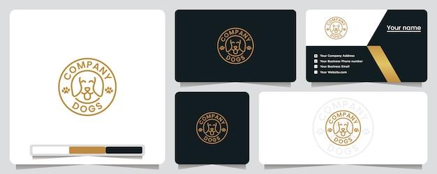 Loja de animais, design de logotipo e cartão de visita