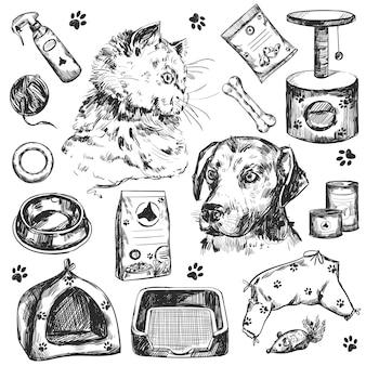 Loja de animais e coleção veterinária