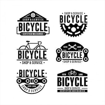 Loja de bicicletas e design de logotipo de serviço