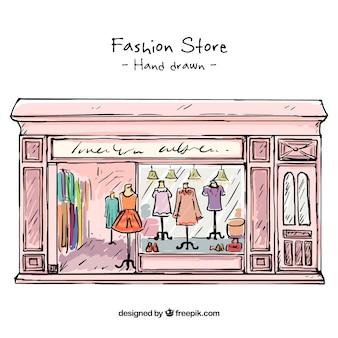 Loja de desenhos vintage da moda
