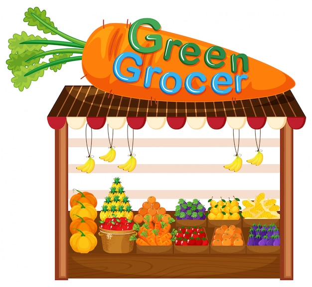 Loja de frutas e vegetais orgânicos