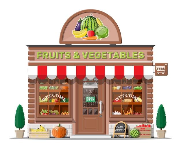 Loja de frutas e vegetais