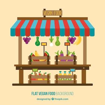 Loja de fundo de alimentos vegan