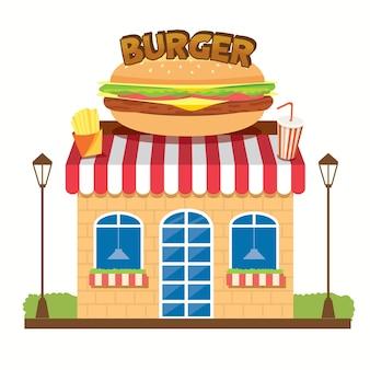 Loja de hambúrguer