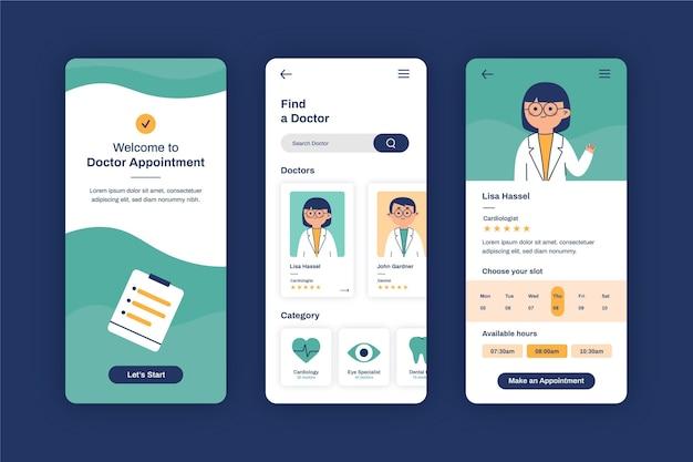 Loja de reserva médica de médico e área de transferência
