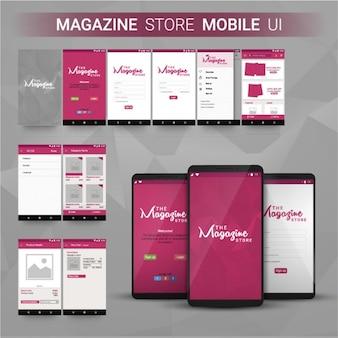 Loja de revista aplicativo móvel