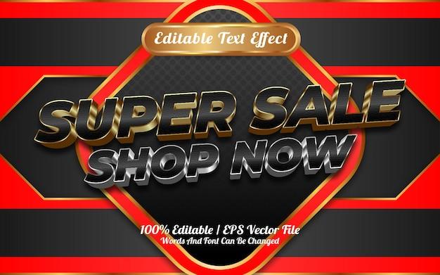 Loja de super venda agora estilo de modelo de efeito de texto editável