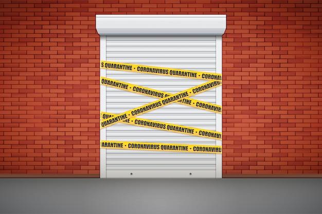 Loja fechada devido a epidemia
