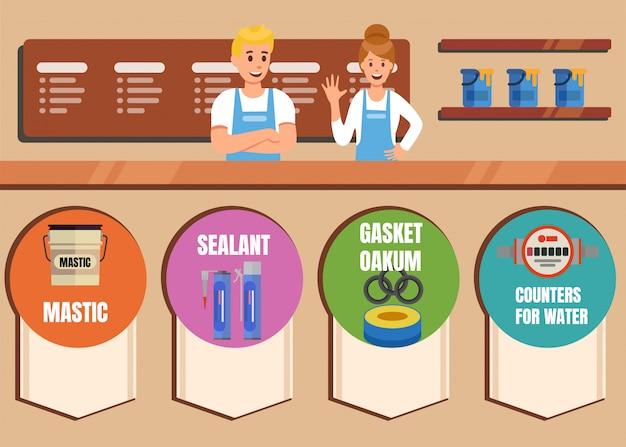 Loja on-line de produtos químicos e ferramentas de construção