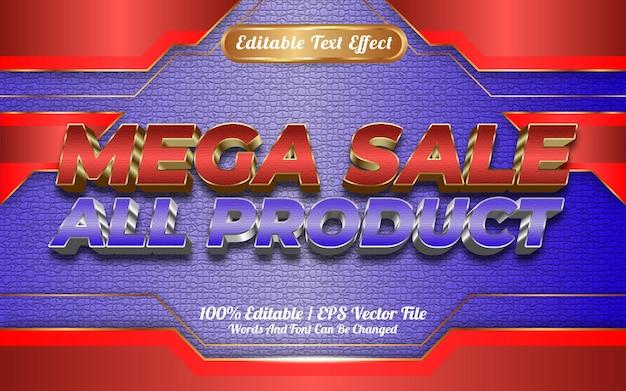 Loja on-line mega venda de todos os produtos estilo de modelo de efeito de texto editável