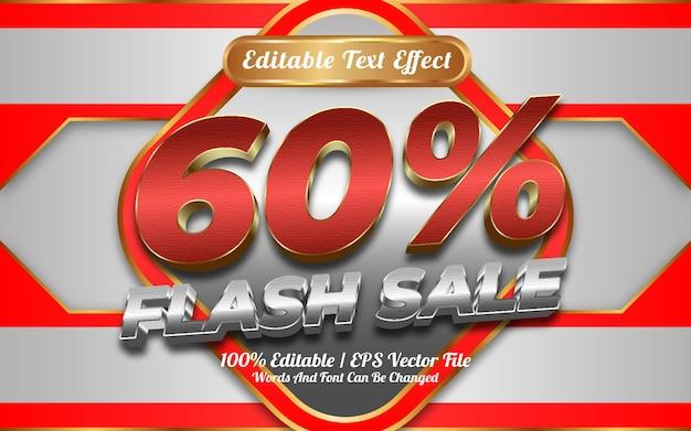 Loja online de até 60 venda em flash estilo de modelo de efeito de texto editável