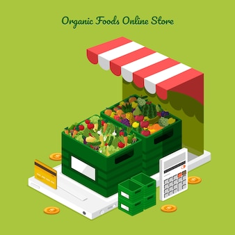 Loja online de frutas e legumes