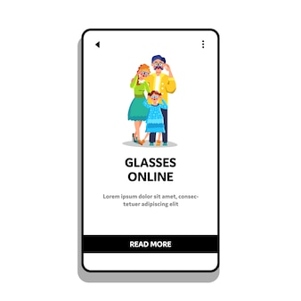 Loja online de óculos para a família