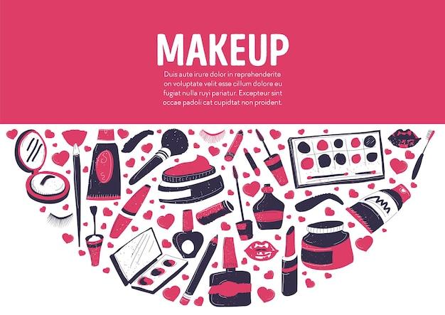 Loja ou loja que vende produção de cosméticos para mulheres