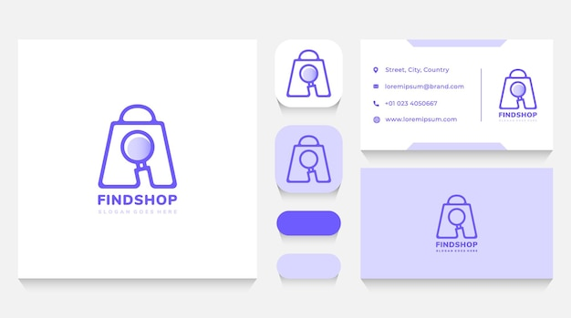 Loja pesquisando modelo de logotipo e cartão de visita