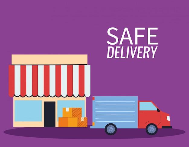 Loja virtual com entrega de correio.