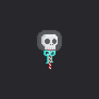 Lollinpop de cabeça de caveira de pixel