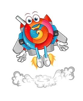 Lollipop com mascote jetpack