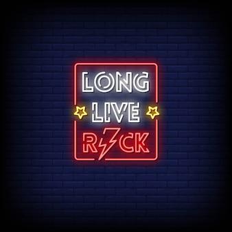 Long live rock neon signs estilo texto