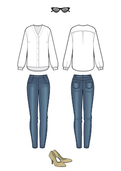 Look feminino com blusa e jeans