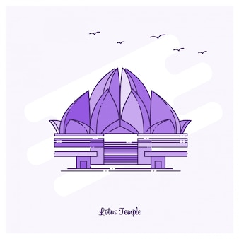 Lotus temple ponto de referência púrpura