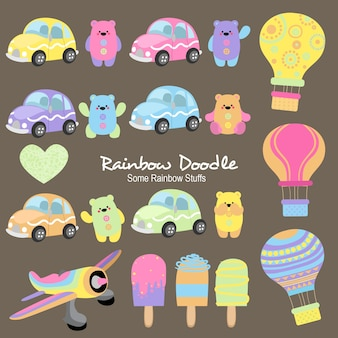 Louise rainbow objects doodle