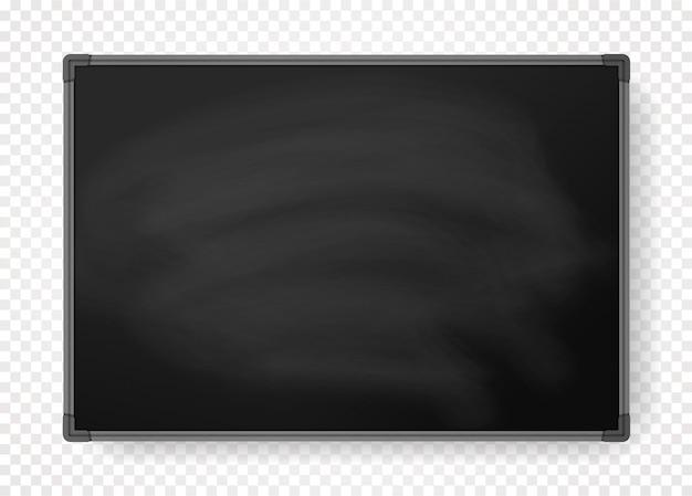 Lousa preta horizontal com borda
