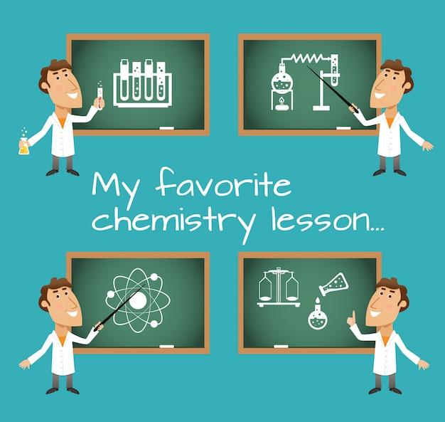 Lousas de aula de química