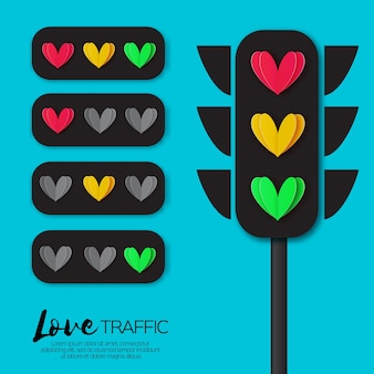 Love lights. luzes de trânsito