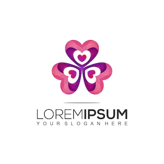 Love logo design modlate