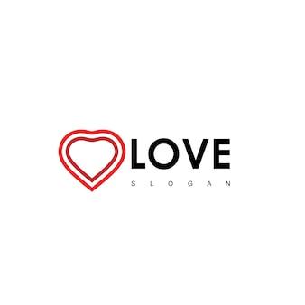 Love logo design vector