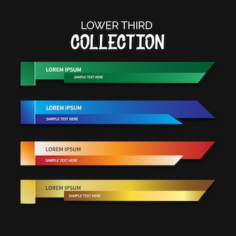 Lower third collection
