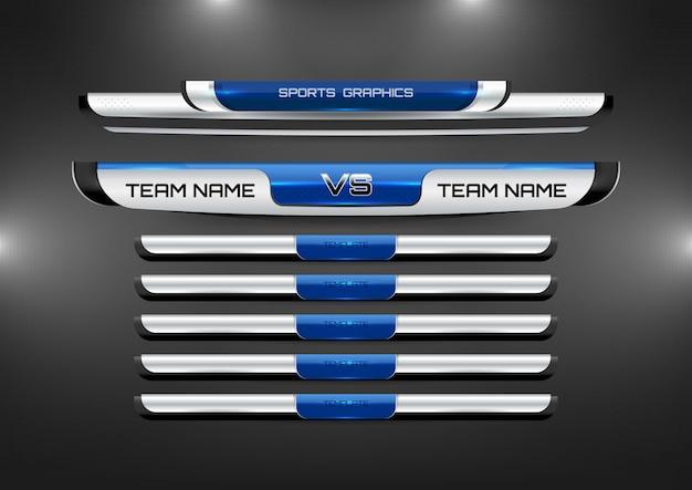 Lower thirds template para futebol e futebol