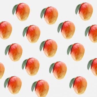 Lowpoly do padrão sem emenda de frutas de manga