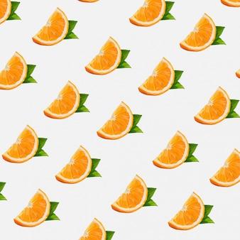 Lowpoly do padrão sem emenda de frutas laranja