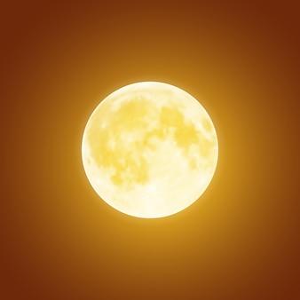 Lua cheia sangrenta sobre fundo de céu noturno marrom escuro. modelo de feriado de halloween