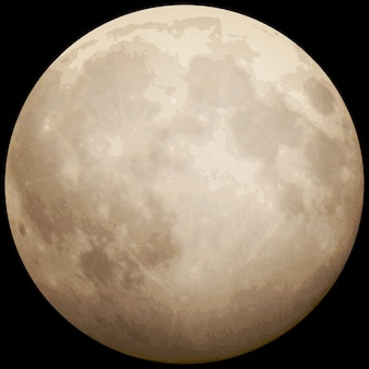 Lua cheia, tirada em 13 de julho de 2014.
