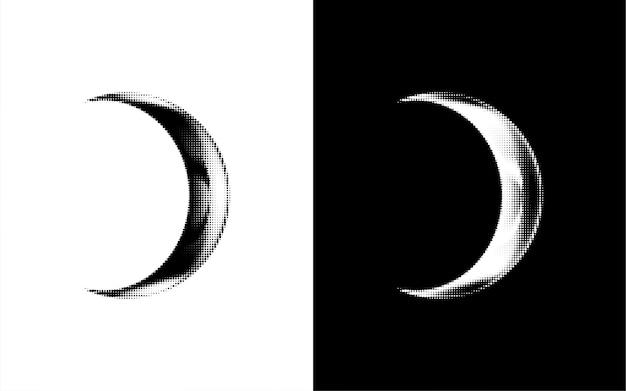 Lua crescente em forma de ponto