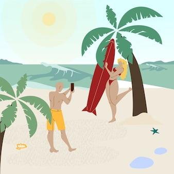 Lua de mel férias férias vector illustration