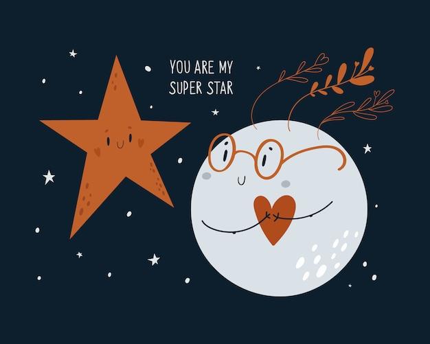 Lua e estrela