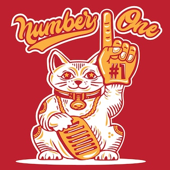 Lucky cat number one