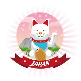 Lucky japonês gato cultura marco ásia