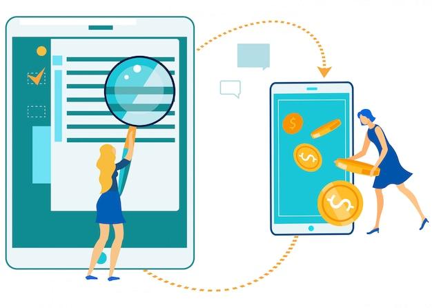 Lucro da tecnologia de negócios on-line, dinheiro digital