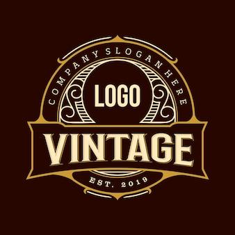 Lugar de logotipo vintage